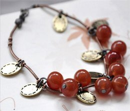 Wholesale Cherry Ornament - New in Korean lady sweet ornaments jewelry Fashion Restore ancient ways brightly red small sweet cherry beautiful bracelet Free shipping