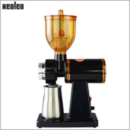 Wholesale Pod Machines - Xeoleo Coffee grinder 250g Electric Bean grinder Coffee mill machine Stainless steel box Anti-jump Flat Wheel Grinding machine