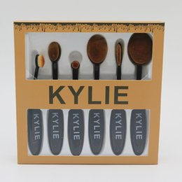 Wholesale Wholesale Nylon Brush - New Kylie Oval Makeup Brush Cosmetic Foundation BB Cream Powder Blush 6 pieces Makeup Tools For Free Shipping