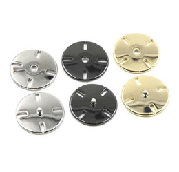 Wholesale Sew Buttons 25mm - Snap Buttons 15 18 21 25mm Fasteners Press Stud Invisible metal slim for handmade Gift Box Scrapbook Craft DIY Sewing Accessories
