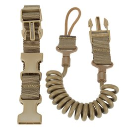 Wholesale Gun Belt Strap - Tactical Two Point Elasticity pistol lanyard sling safe carrying Sling Adjustable belt loop for Rifle Bungee Airsoft Gun Strap System