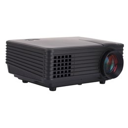 Подарок u диск онлайн-Wholesale-3D LED Projector Mini Projector Support Red/blue 3D Format Moive Home Theater 800*480 With 3D Glass U-disk Free Gift