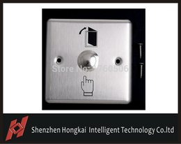 Wholesale Door Access Control Panel - Wholesale- New High Quality Convenient Stainless Steel Switch Panel Door Exit Push Home Release Button Access Control freeshipping