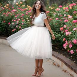 Wholesale Tulle Skirt Slim - Women Tulle White Lolita Skirts Green Black Faldas Plus size XXXXXL 4XL S M L Saias Ladies Slim Knee Length Elegant Jupe Skirt