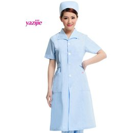 8619385b42d beauty salon dresses Canada - medical Doctor white long-sleeved dress nurse  short sleeved uniform