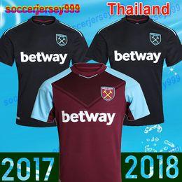 Wholesale Quality Ham - Thailand quality 2017 2018 west ham united soccer jerseys 17 18 Adult men shirts football uniforms CARROL MOBLE LANZINI FEGHOULI ARNAUTOVIC