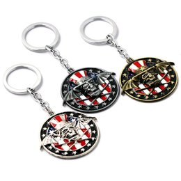 Wholesale Character Bandages - Free shopping Avenged Sevenfold band key chain factory direct sales Avenged Sevenfold bandage character alloy keychain