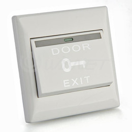 Wholesale Exit Push Button Access Control - Wholesale-Electric Door Lock Door Strike Release Button Exit Push Release Switch Access Control Electric Door Lock Strike