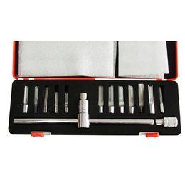 Wholesale New Auto Locksmith Tools - New arrival DL 12pcs super quick open tools car locksmith tools lock pick set professional locksmith supplies