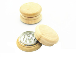Wholesale Wholesale For Spice Grinder - Wood Grinder wooden spice herb handle grinder crusher 55mm 2 parts for smoking grinder smoking pipe supplier
