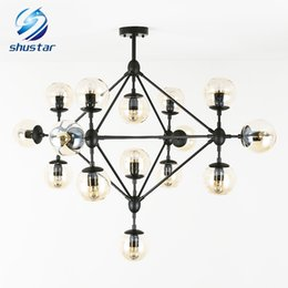 Wholesale Miller Lamps - Modern Glass Chandeliers Jason Miller MODO Chandelier Droplight Living Room Pendant Lamp Light Lighting
