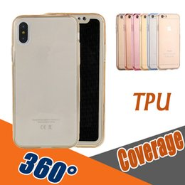 Wholesale Best Back Covers - 360 Degree Coverage Full Body Case Best Protector Front Back Transparent Soft TPU Cover For iPhone X 8 7 Plus 6 6S 5 5S Samsung S8 S7 Edge