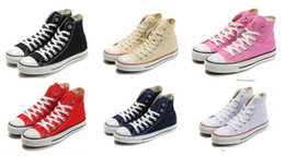 Wholesale Navy Blue Chucks - 2017 NEW size35-46 New Unisex Low-Top & High-Top Adult Women's Men's Canvas Shoes 13 colors sports stars chuck Laced Up Casual Sneaker shoes