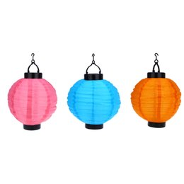 Wholesale Led Lights For Christmas Lanterns - New Arrival Solar Lantern LED Solar Lights Christmas Light Solar Power Chinese Lantern Garden LED Light String For Wedding Holiday Garden