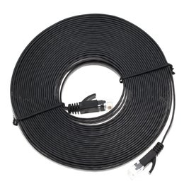 Wholesale Flat Network Cable - Wholesale-10M Aurum Cables Flat CAT6 Flat UTP Ethernet Network Cable RJ45 Patch LAN Cable High Quality