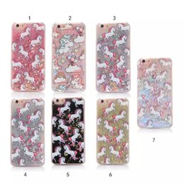 Wholesale Unique Stars - Bling Liquid Glitter Quicksand Star Case Unique Cute Unicorn phone Back Cover For iphone 5 5s 6 6S 7 8Plus S6 S7 edge