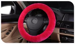Wholesale Wool Steering Wheel Cover - Authentic Sheepskin Car Stretch-on Steering Wheel Cover Soft Australian Wool Vehicle braid on the steering-Wheel Protector
