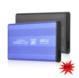 Mavi / Siyah Süper Hızlı USB 3.0 HDD Sabit Disk Harici Muhafaza 2.5 Inç SATA HDD Durumda Kutusu Mobil Disk 2.5 '' HD USB3.0 nereden harici sata sabit disk sürücüsü tedarikçiler