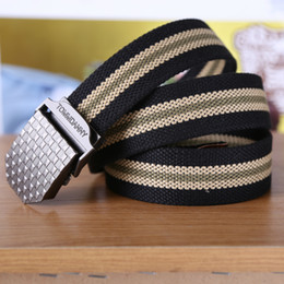 Wholesale Leather Beaded Belt 38 - Men with thick canvas belt Leisure joker belts Military enthusiasts fat belt wholesale Canvas belt men