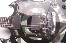 Wholesale Sg Black - New Arrival Custom Double Cutaway SG Zakk Wylde Camo & Black Bullseye Electric Guitar EMG Pickups Chrome Hardware