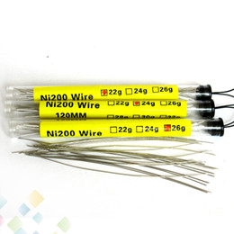 Wholesale diy pc wiring - Best Ni200 Wire 120MM 20 pcs in a Tube Resistance Temperature Control Wire FIT DIY Atomizer 22g 24g 26g 28g 30g DHL free