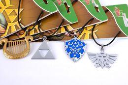 Wholesale Legend Zelda Figures - Necklace The Legend Of Zelda Ocarina Of Time Pendant Metal Torque Personality Fashion Action Figures Kids Gift Decoration 5my H1