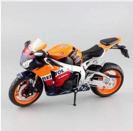 Wholesale Die Cast Toys - 1:12 scale kids Honda fireblade repsol CBR1000RR Motorcycle Die cast supersport metal models MotoGP race motor bike toy orange
