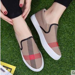 Wholesale Espadrilles Flats - women casual shoes summer autumn fashion brand breathable canvas shoes lazy slip-on women shoes women flat espadrilles