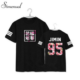 Wholesale Cherry T Shirt - Wholesale-Print floral cherry BTS summer t shirt 2016 harajuku fashion new letter paired t-shirts short sleeve plus size couple clothes