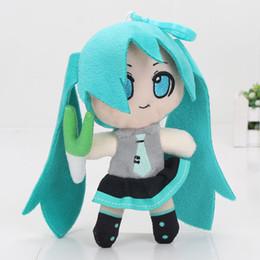 Canada 16 cm Nouveau Hatsune Miku Vocaloid poupée porte-clés porte-clés pendentifs en peluche jouet doux peluche poupée enfants jouets cadeau supplier anime miku Offre