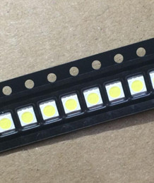 Wholesale Lcd 3v - Wholesale- 50PCS Lot 3528 2835 3V SMD LED Beads 1W LG Cold White 100LM For TV LCD Backlight