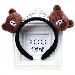 Wholesale Headbands Bear - Lovely doll hair sell adorable artifact card chicken rabbit Cartoon Bear Hair Headband Korean head ornaments