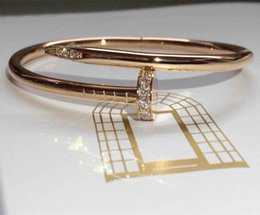 Wholesale 18k Korean Bracelet - Mark male fashion in Europe and America rose gold, platinum gold bracelet south Korean actress couple's birthday present