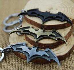 Wholesale Antique Bat - Super Hero Key Chain Superhero Marvel Batman Bat Metal Keychain Pendant Key Chain Chaveiro Key Ring Gift b1179