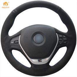 Wholesale Bmw 328i - Mewant Black Suede Car Steering Wheel Cover for BMW F30 320i 328i 320d F20