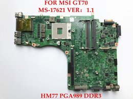 Wholesale Intel Motherboard Msi - original for MSI GT70 laptop MS-17621 HM77 PGA989 DDR3 Non-integrated motherboard ,fully tested