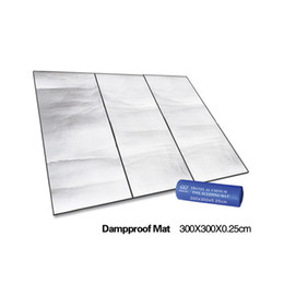 Wholesale Inflatable Beach Pad - Wholesale-Large Damproof Beach Garden Aluminum Insulation Foam Mat Blanket Cushion Pad for Camping Hiking Picnic 300x300cm