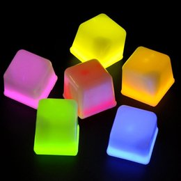 Wholesale Ice Cube Light Sale - Wholesale-Hot sale 12Pcs Amazing LED Light Ice Cubes Light Toys Novelty Children Kids Toy Gifts Light Up Toys Party Fun Gift