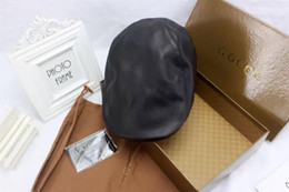 Wholesale Luxury Duck - High quality real leather hats designer duck tongue caps outdoor sports leisure sun hat luxury brand headdress cap with box