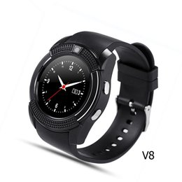 Wholesale Sync Red - Smart Watch V8 Clock Sync Notifier Support Sim Card Bluetooth Connectivity For Android Phone Smartwatch PK DZ09 GT08 U8