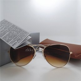 Wholesale Designer Coats For Women - Brand Designer Fashion Mirror Sunglasses For Men and Women UV400 Vintage Sport Coating Sun glasses With Brown box