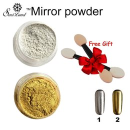 Wholesale Bright Pigment - Wholesale-Gold Silver Glitter Mirror Powder Pigment Bright Chrome Magic Mirror Effect Nail Art Tool for Nail Gel Polish Decoration