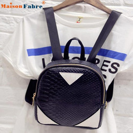 Wholesale U Canvas - Wholesale- U Women Canvas Rucksack concise Serpentine Backpack School Book Shoulder Bag Hot Drop Shipping
