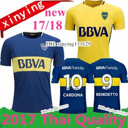 Wholesale Boca Juniors Shorts - Thai quality 2017 2018 Argentina Boca Club Juniors Soccer Jerseys 17 18 GAGO OSVALDO CARLITOS PEREZ P HOME Blue AWAY Yellow Football shirts