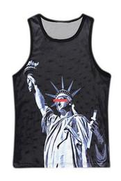 Wholesale Goddess Shirt - Wholesale- 2016 Brand Clothing Men's Funny 3d Printed Tank Tops Sleeveless T-Shirt Goddess of Victory printed Vest Men Fitness Vest For Man