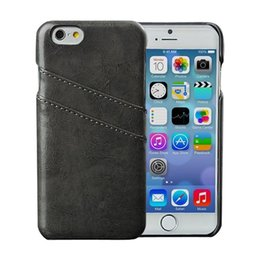 Wholesale iphone bumper card - For Iphone 7 Wallet PU Leather Card Slot Back Cover Bumper Case For Iphone 7 Plus 6S Plus 6S Samsung S7 S6 S5 Note 4 Each Models Moq100Pcs