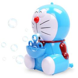 Wholesale Wholesale Bubble Machines - Electric toy Electric cartoon cat with music light bubble machine blowing bubbles children's toys electrische bellen blazen