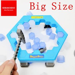 Wholesale Games Break - Wholesale- SERMOIDO Penguin Trap Interactive Ice Breaking Table Penguin Trap Antistress Toy Activate Fun Toy For Kids Family Funny Game A50