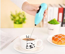 Wholesale Mini Egg Whisk - Coffee Automatic Electric Milk frother foamer rother batidora Drink Whisk Mixer Egg Beater Mini Handle Stirrer Kitchen Tool DHL