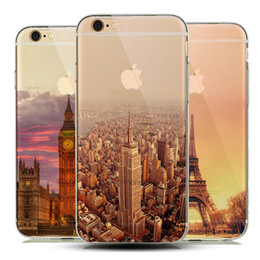 Wholesale Tower Mobile Cover - New York Empire Building Effiel Tower Mobile Phone Case for iphone 8 7 Plus 5s 6s 6 Clear Crystal Cover capinhas
